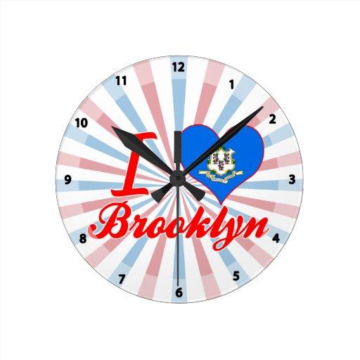 Amo Brooklyn, Connecticut Relojes De Pared