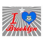 Amo Brooklyn, Connecticut Tarjetas Postales