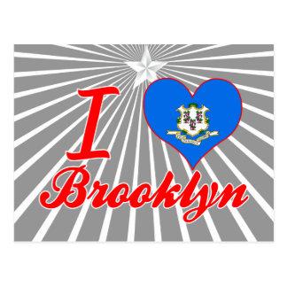 Amo Brooklyn Connecticut Tarjetas Postales