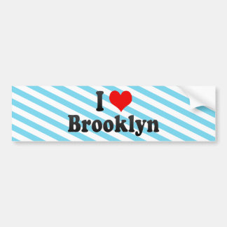 Amo Brooklyn, Estados Unidos Etiqueta De Parachoque