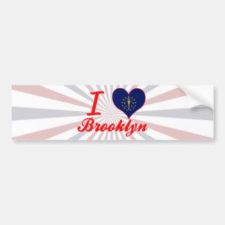Amo Brooklyn, Indiana Pegatina De Parachoque