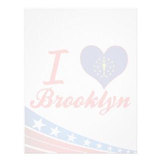 Amo Brooklyn, Indiana Membrete Personalizado