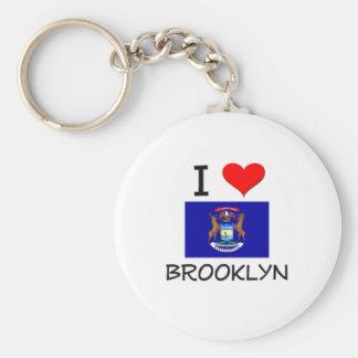 Amo Brooklyn Michigan Llaveros Personalizados