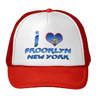 Amo Brooklyn, Nueva York Gorros Bordados
