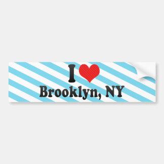 Amo Brooklyn, NY Etiqueta De Parachoque