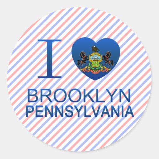 Amo Brooklyn, PA Pegatina Redonda