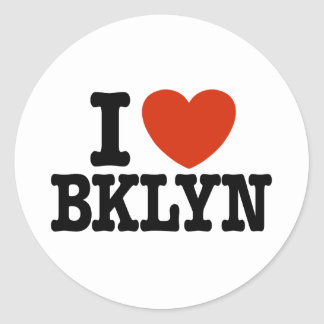 Amo Brooklyn Pegatina Redonda