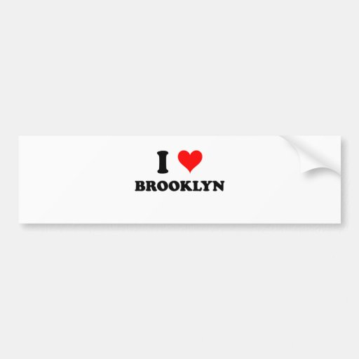 Amo Brooklyn Pegatina De Parachoque