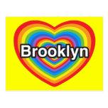 Amo Brooklyn. Te amo Brooklyn. Corazón Postal