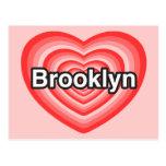 Amo Brooklyn. Te amo Brooklyn. Corazón Postales