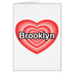 Amo Brooklyn. Te amo Brooklyn. Corazón Felicitacion