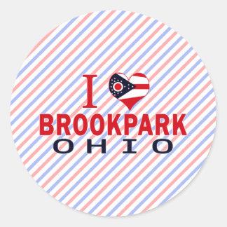 Amo Brookpark Ohio Pegatina Redonda