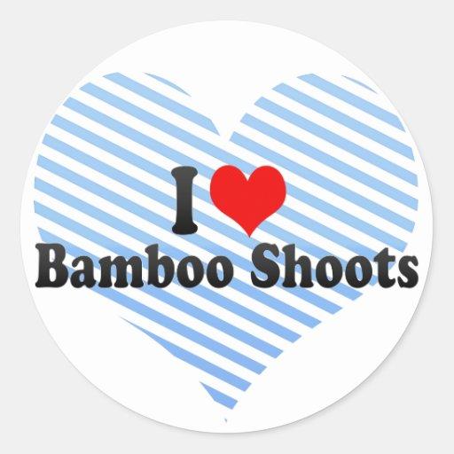 Amo brotes de bambú pegatinas