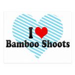 Amo brotes de bambú postales