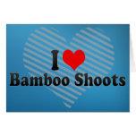 Amo brotes de bambú tarjeta