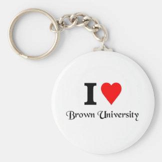 Amo Brown University Llavero