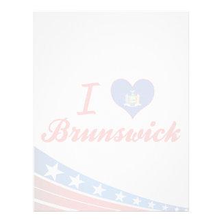 Amo Brunswick, Nueva York Membrete Personalizado