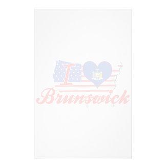 Amo Brunswick, Nueva York Papeleria De Diseño