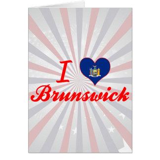 Amo Brunswick, Nueva York Felicitacion