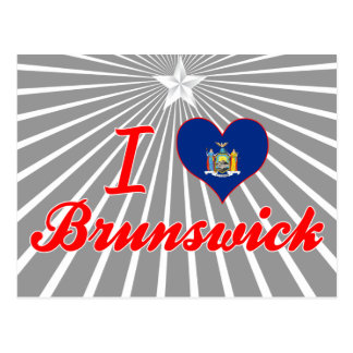 Amo Brunswick, Nueva York Tarjeta Postal