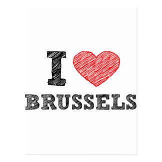 Amo Bruselas Tarjetas Postales