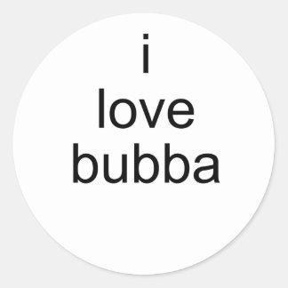 amo bubba etiquetas redondas