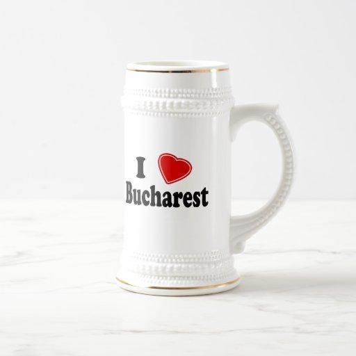 Amo Bucarest Jarra De Cerveza