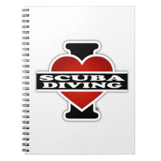 Amo buceo con escafandra cuadernos