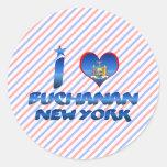 Amo Buchanan, Nueva York Pegatina Redonda