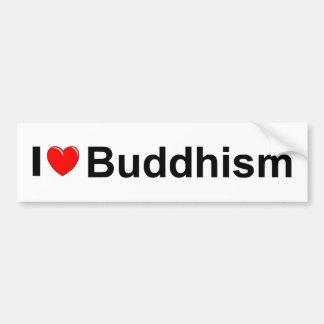 Amo Buddhism (del corazón) Pegatina De Parachoque