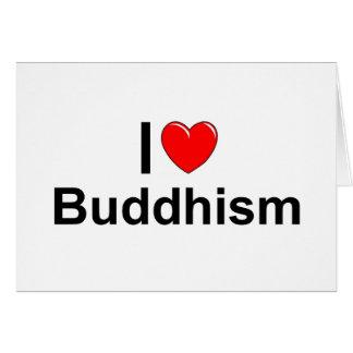 Amo Buddhism (del corazón) Tarjeta De Felicitación