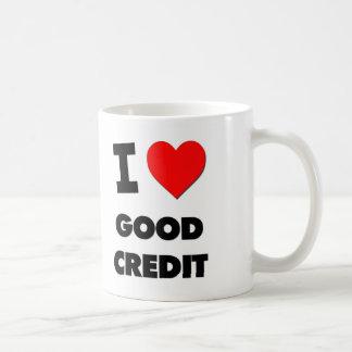 Amo buen crédito taza