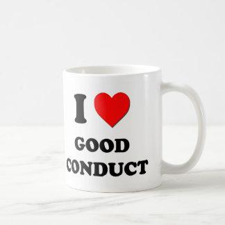 Amo buena conducta tazas de café