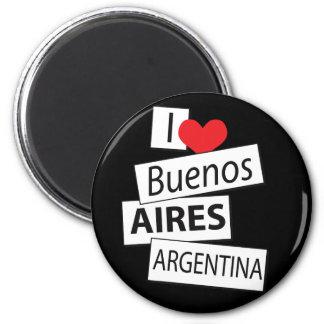 Amo Buenos Aires Imán Redondo 5 Cm