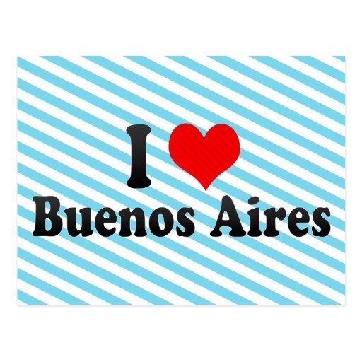 Amo Buenos Aires, la Argentina Tarjetas Postales