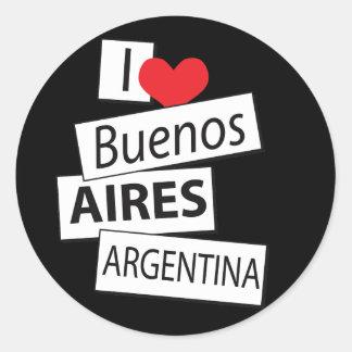 Amo Buenos Aires Pegatina Redonda