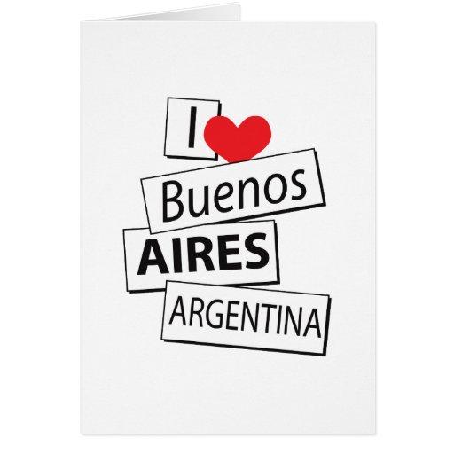 Amo Buenos Aires Tarjeta De Felicitación