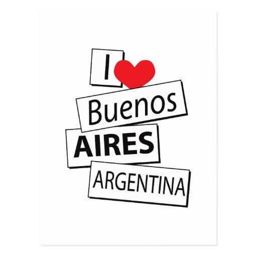 Amo Buenos Aires Tarjetas Postales