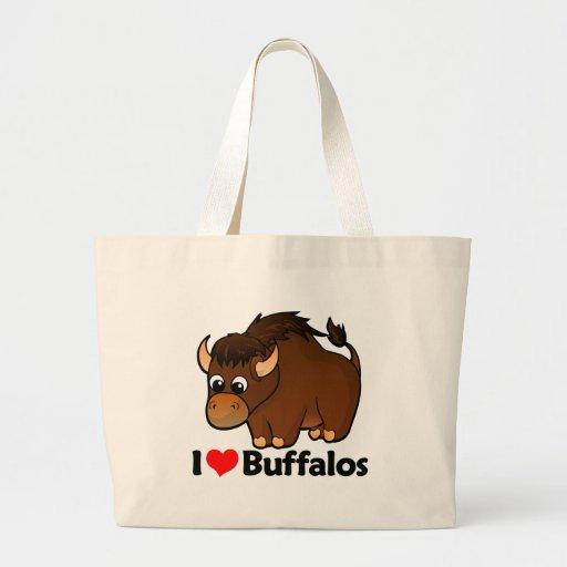 Amo búfalos bolsas de mano