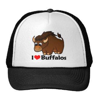 Amo búfalos gorras