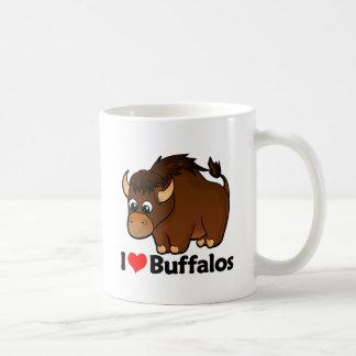 Amo búfalos tazas de café