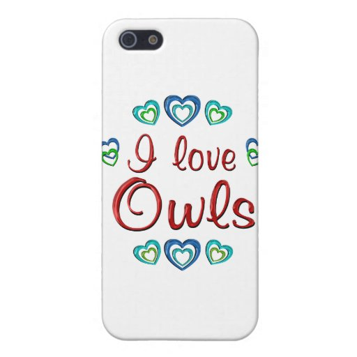 Amo búhos iPhone 5 cobertura