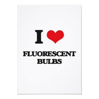 AMO bulbos fluorescentes Invitaciones Personalizada