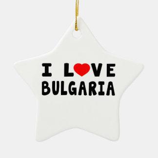 Amo Bulgaria Adorno De Cerámica En Forma De Estrella