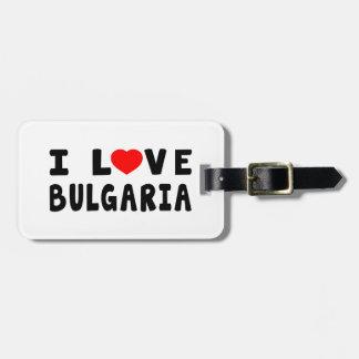 Amo Bulgaria Etiquetas Para Equipaje