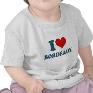 Amo Burdeos Camisetas