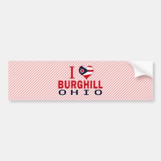 Amo Burghill, Ohio Etiqueta De Parachoque