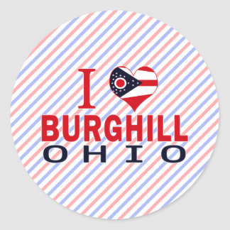 Amo Burghill, Ohio Pegatina Redonda