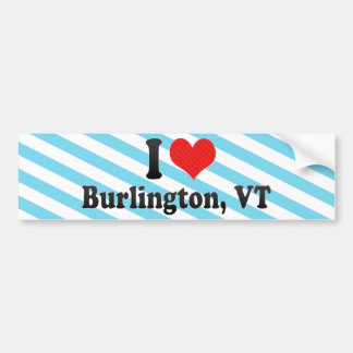 Amo Burlington, VT Pegatina Para Auto