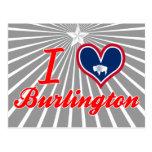 Amo Burlington, Wyoming Tarjetas Postales